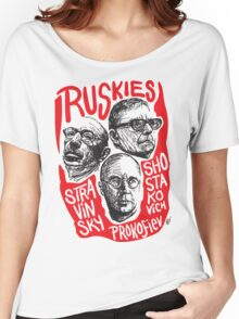 Ruskies-Russian Composers Women's Relaxed Fit T-Shirt