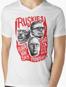 Ruskies-Russian Composers Mens V-Neck T-Shirt