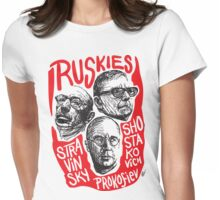 Ruskies-Russian Composers Womens Fitted T-Shirt