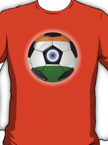 India - Indian Flag - Football or Soccer T-Shirt