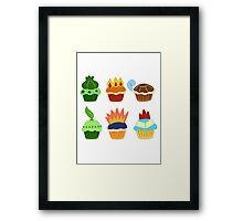 starter pokemon as cupcakes Framed Print