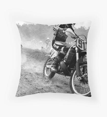 Moto wreck Throw Pillow
