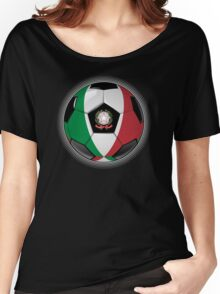 Italy - Italian Flag - Football or Soccer Women's Relaxed Fit T-Shirt