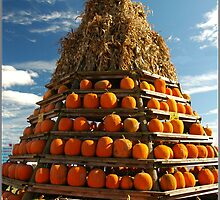 Tee Pee Of Pumpkins by Kathleen Struckle