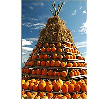 Tee Pee Of Pumpkins Photographic Print