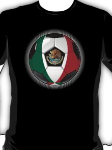 Mexico - Mexican Flag - Football or Soccer T-Shirt