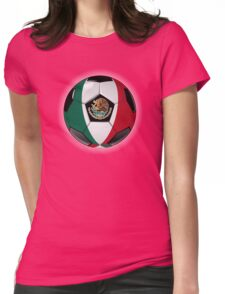 Mexico - Mexican Flag - Football or Soccer Womens Fitted T-Shirt