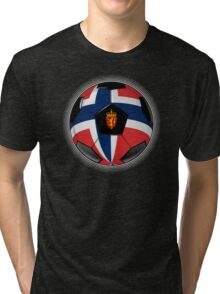 Norway - Norwegian Flag - Football or Soccer Tri-blend T-Shirt