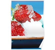 Iced Strawberries Poster