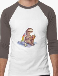 Cozy Sloth Men's Baseball ¾ T-Shirt
