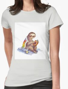 Cozy Sloth Womens Fitted T-Shirt