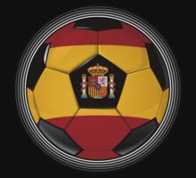 Spain - Spanish Flag - Football or Soccer T-Shirt