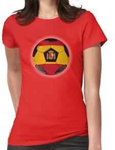Spain - Spanish Flag - Football or Soccer Womens Fitted T-Shirt