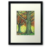 The Green Wood Framed Print