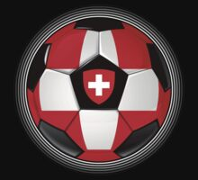 Switzerland - Swiss Flag - Football or Soccer by graphix