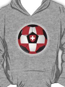 Switzerland - Swiss Flag - Football or Soccer T-Shirt