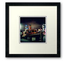 Midnight Boat Framed Print