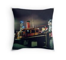 Midnight Boat Throw Pillow