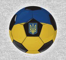 Ukraine - Ukrainian Flag - Football or Soccer Kids Tee