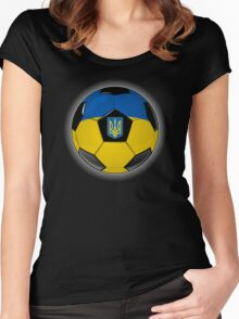 Ukraine - Ukrainian Flag - Football or Soccer Women's Fitted Scoop T-Shirt