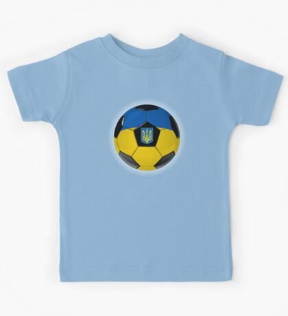 Ukraine - Ukrainian Flag - Football or Soccer Kids Tee