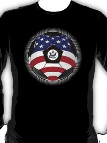 USA - American Flag - Football or Soccer T-Shirt