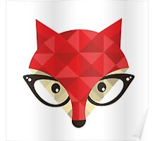 Hipster fox. Poster