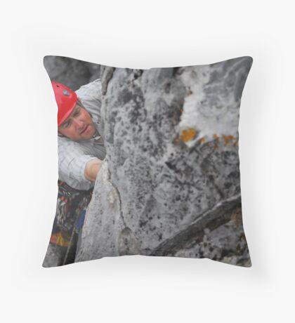 Lead climb Throw Pillow