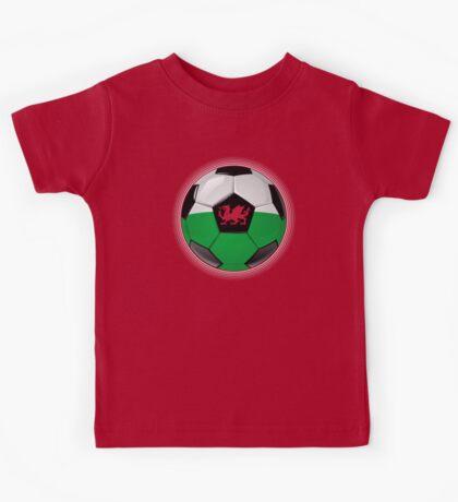 Wales - Welsh Flag - Football or Soccer Kids Tee