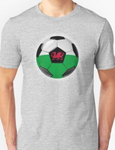 Wales - Welsh Flag - Football or Soccer Unisex T-Shirt