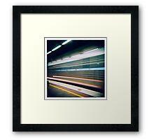 Slow Funky Train Framed Print