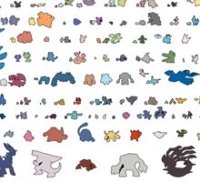 all pokemons minimalism design Sticker