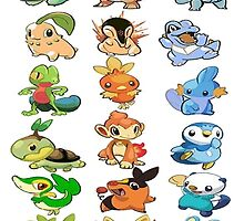 all starters pokemons by pokemonequisde