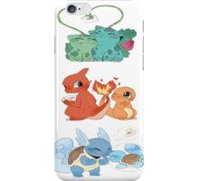 pokemon first gen starters love cute design iPhone Case/Skin