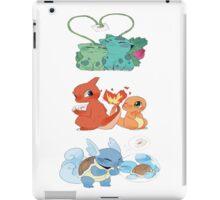 pokemon first gen starters love cute design iPad Case/Skin