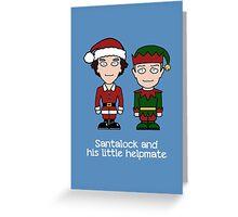 Sherlock Christmas card: Santalock Greeting Card
