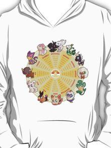 zpdiac calendar pokemon 5th gen T-Shirt