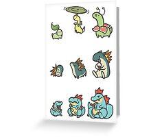 2nd gen pokemon cute starters Greeting Card
