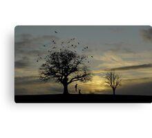 Decoratin' the Tree Canvas Print