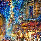 Paris Recruitment Cafe 2 — Buy Now Link - www.etsy.com/listing/212183819 by Leonid  Afremov