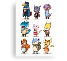 animal crossing crossover pokemon Canvas Print