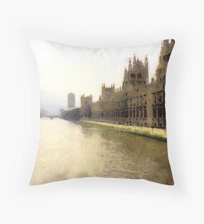 The Thames Throw Pillow