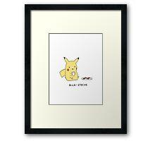 milk stache pikachu cute design Framed Print