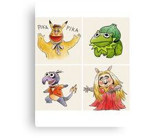 muppets crossover pokemon  Canvas Print