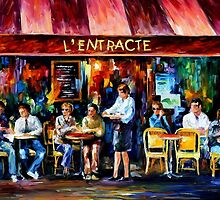 Cafe In Paris — Buy Now Link - www.etsy.com/listing/209805861 by Leonid  Afremov