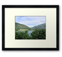 View Across the Fjord Framed Print