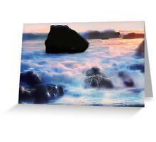 Twilight Surf Greeting Card