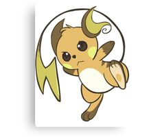 raichu kawaii design Canvas Print