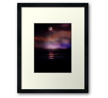 MoonSet Framed Print