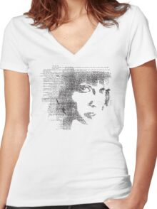 the voice is a second face Women's Fitted V-Neck T-Shirt